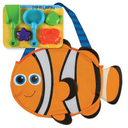 Stephen Joseph Beach Totes with Sand Toy Play Set, Clown Fish