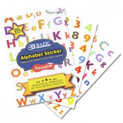 كتاب ملصقات الحروف الأبجدية البلاستيكية من بازيك