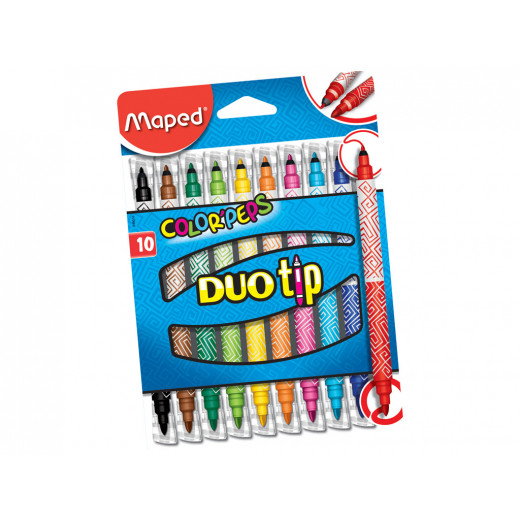الوان بيبس ديو دبل فلوماستر من مابيد,  10 قلم
